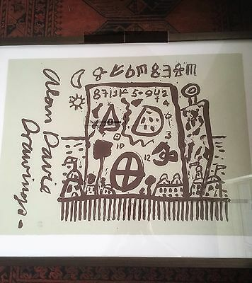 Alan Davie SIGNED litho, 1997, Alan Davie Drawings 56/100, occult, myth