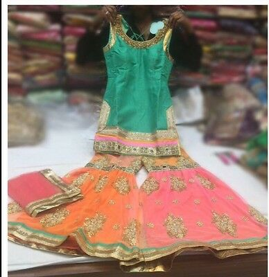 Indian Sharara Suit Size 10/12 With Margin