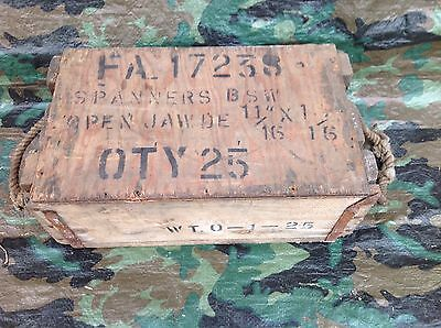 Ww2 British Army Military Vehicle Box Of Spanners Joblot 1944 Unissued