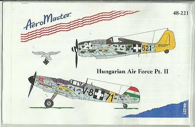 Aeromaster Decals 48-221 Fw190F Bf109F/G Hungarian decals in 1:48 Scale