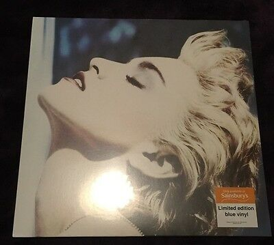 Madonna True Blue Sainsbury Exclusive Blue Vinyl & Poster New & Sealed