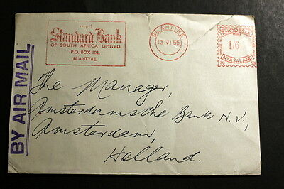 Rhodesia cover to Netherlands M-092