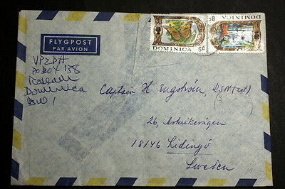 Dominica cover to Sweden M-054