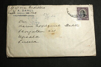 Chile cover to Sweden M-004