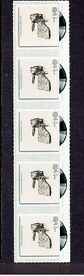 Coldplay - A Rush of Blood to the Head - Strip of 5 UNUSED 1st Class GB Stamps