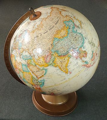 "Replogle 12"" World Classic Series Raised Relief Globe LeRoy M Tolman Metal Base"
