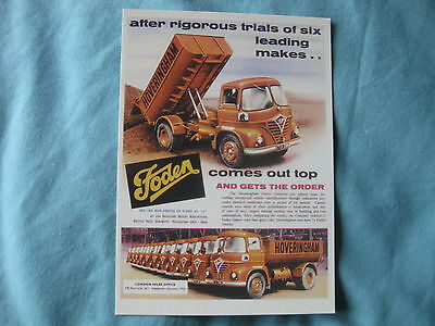Classic Truck Foden Hoveringham Tipper 1961 Postcard Of An Original Advert New