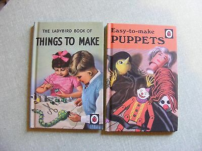 Two Ladybird Books: Easy To Make Puppets/things To Make £0.99P Start