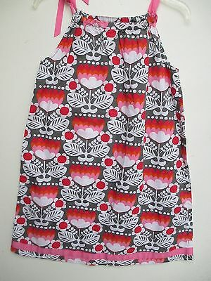 Girl's Size 150 (US 12-14) Hanna Andersson Sleeveless Floral Print Cotton Dress