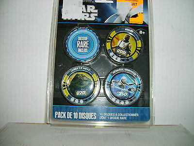 86 Disque STAR WARS neuf ( dont 8 rares ) sous blister. Collector. 2010