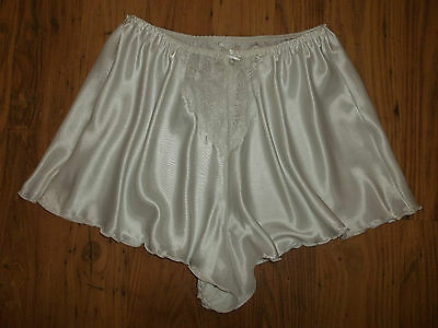 Vintage Original Ballet Slippery Silky Satin Lacy French Knicker Tap Panties M