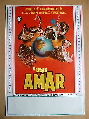 Affichette Amar/Carrington 1985