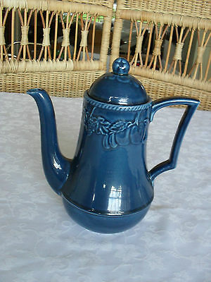 bhs barratts lincoln blue coffee pot good used condition