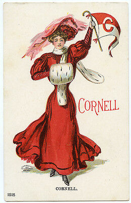 "College Girl Christy ""Cornell"" University Pre-1907 Ithaca NY"