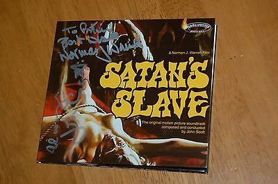 Satan's Slave - Cd S-Track Rare Signed By John Scott And Norman J. Warren Horror