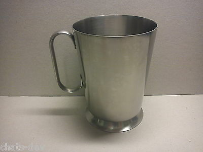 VINTAGE OLD / OLDE HALL - Satin Stainless Steel - One Pint FOOTED TANKARD