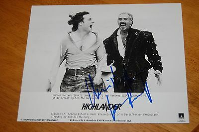 CHRISTOPHER LAMBERT as CONNOR MacLEOD - RARE ORIGINAL AUTOGRAPH - HIGHLANDER