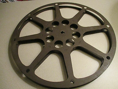 16mm 1200ft Brown 1950's Bell & Howell    Metal Reel 12 inches Across