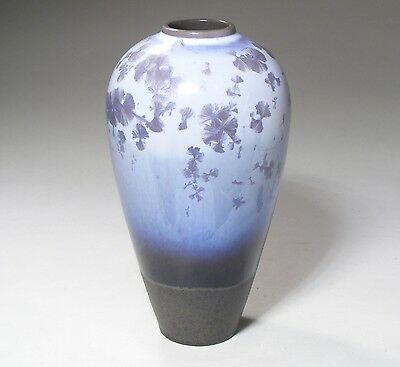 Lladro Art Pottery Vase With Silver Crystalline Glaze