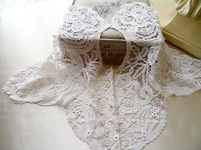 A delightful Antique Brussels Princess Lace Bertha Collar C.1910