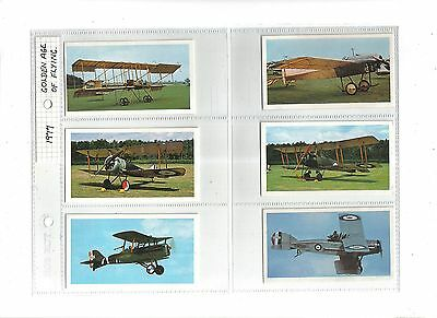 Golden Age of Flying.Issued by Players(Doncella) 1977.Full set of 24 in sleeves