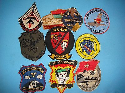 Lot Of 10 Vietnam War Military Patches  #  A