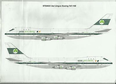TwoSix Decals 4451 Boeing 747-148 Aer Lingus decals in 1:144 Scale