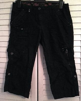 Black Marks and Spencer women's crop trousers - Size 12