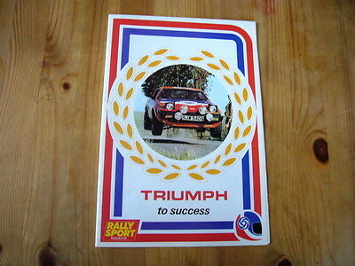 Triumph TR7 & Dolomite Sprint rally sport brochure/poster, 1977, excellent, rare