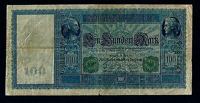 Reichsbanknote Germany - 21 April 1910 - 100 Mark - Green Seal /64