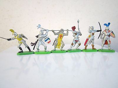 Full set of 6 Britains Deetail Knights
