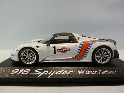 Porsche 918 Spyder Weissach Package #1 Martini Racing Minichamps 1:43 New