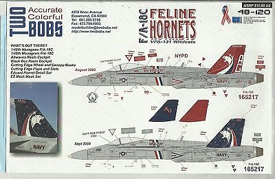 TwoBobs Decals 48-120 F/A-18C Hornet decals in 1:48 Scale