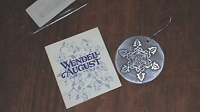 2000 Wendel August Forge Snowflake Ornament