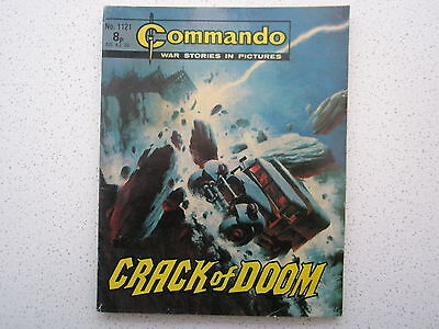 CRACK OF DOOM   Commando War Comic No. 1121  1977