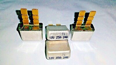 Qty-4  25 amp 12 volt ATC/ATO type 1 auto reset circuit  breaker fuse 4 pc  lot