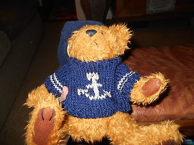 """Pickford Bears Brass Button Collectibles """"Tango~Bear of Health"""" in sweater&hat"""