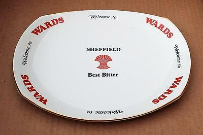 Large Wards Sheffield Best Bitter Plate by R A James & Co. English Pottery.Ale