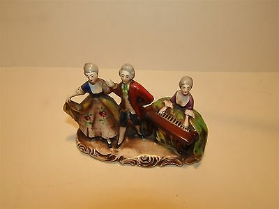 Early Hummel figure group ~ Dancers and Musician ~ Crown Mark 1934-1950