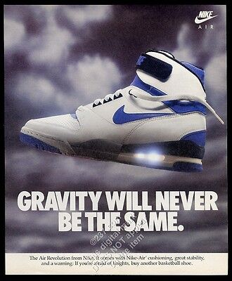 1986 Nike Air Revolution basketball shoe shoes photo vintage print ad