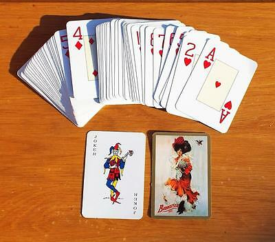 Deck of Budweiser Girl Playing Cards with Two Jokers. Games / Lager / Drink.