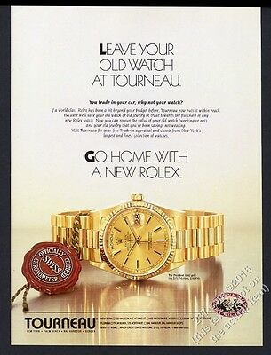 1993 Rolex President gold watch color photo vintage print ad