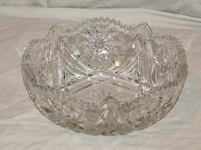 "Cambridge ""Near Cut"" Glass Bowl"