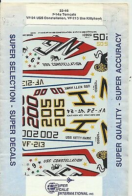 Microscale Superscale 32-046 F-14 Tomcat decals in 1:32 Scale