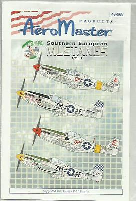 Aeromaster Decals 48-668 P-51B P-51D Mustang decals in 1:48 Scale