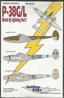Cutting Edge Decals 48-203 P-38G P-38L Lightning decals in 1:48 Scale