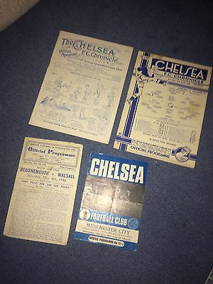 bournemouth v walsall south cup final @ chelsea 1946