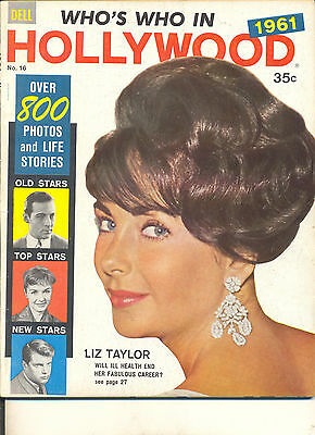 Movie Magazine - Who's Who In Hollywood 1961 Elizabeth Taylor cover
