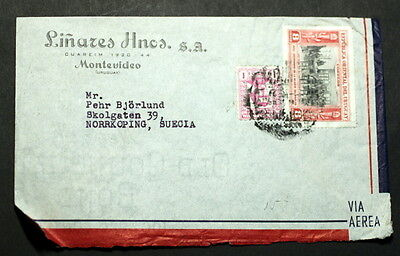 Uruguay cover to Sweden    #056