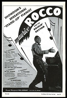 1944 Maurice Rocco photo vintage music trade booking ad